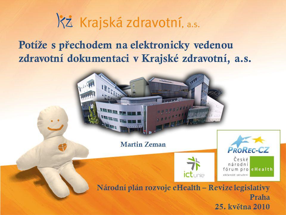 Národní plán rozvoje eHealth – Revize legislativy Praha 25.