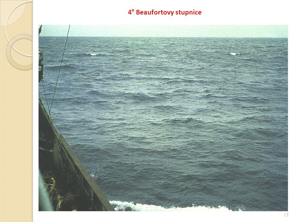17 4° Beaufortovy stupnice