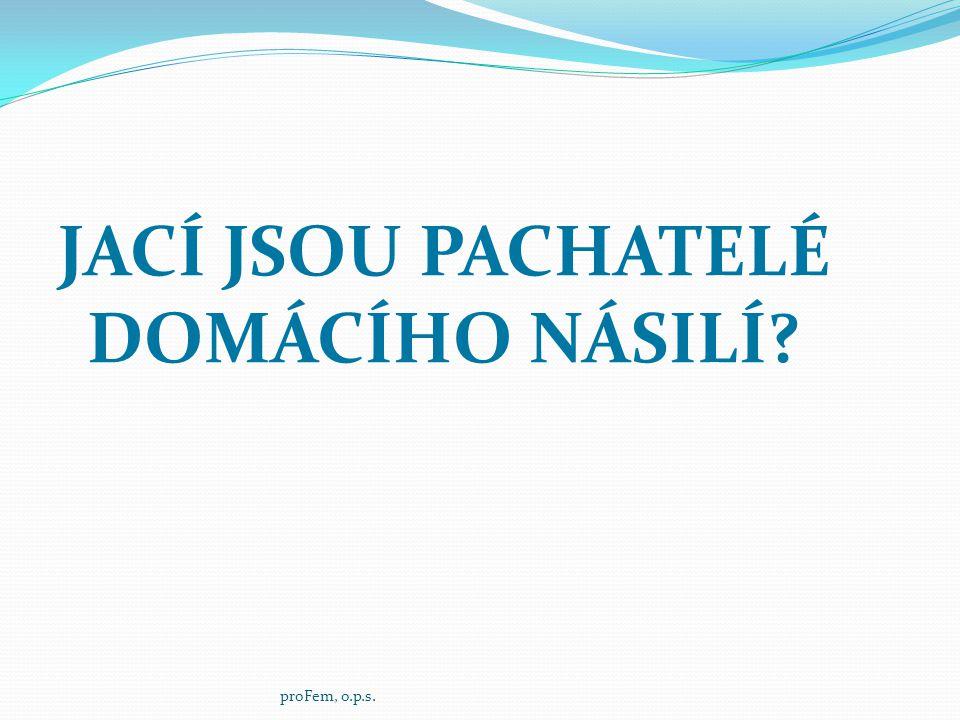 JACÍ JSOU PACHATELÉ DOMÁCÍHO NÁSILÍ? proFem, o.p.s.