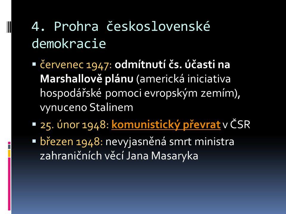 4.Prohra československé demokracie  červenec 1947: odmítnutí čs.