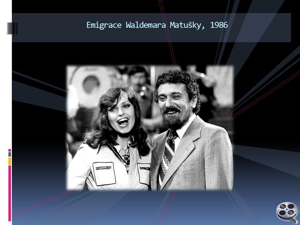 Emigrace Waldemara Matušky, 1986