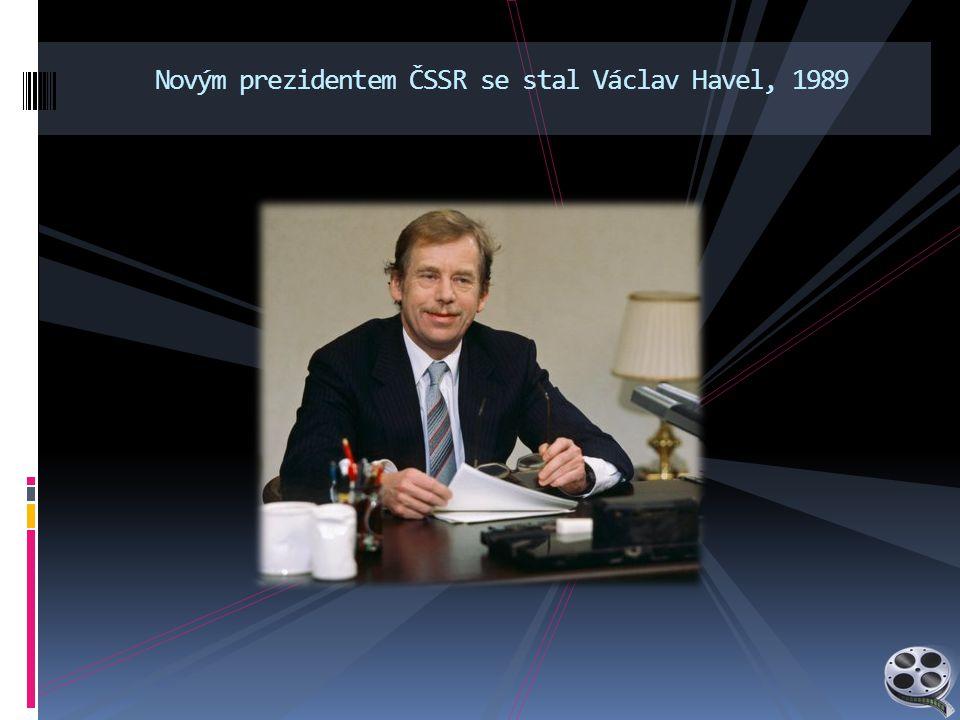 Novým prezidentem ČSSR se stal Václav Havel, 1989