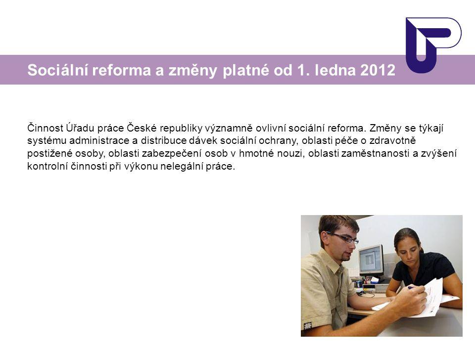 Činnost Úřadu práce České republiky významně ovlivní sociální reforma. Změny se týkají systému administrace a distribuce dávek sociální ochrany, oblas