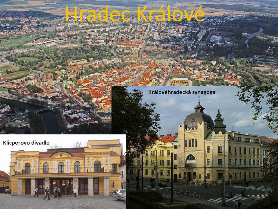 Hradec Králové Královéhradecká synagoga Klicperovo divadlo