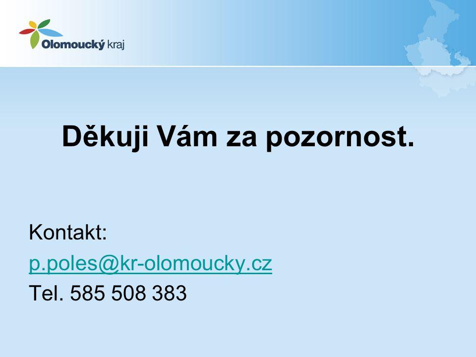 Děkuji Vám za pozornost. Kontakt: p.poles@kr-olomoucky.cz Tel. 585 508 383