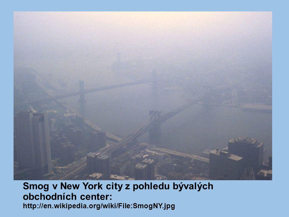Smog v New York city z pohledu bývalých obchodních center: http://en.wikipedia.org/wiki/File:SmogNY.jpg