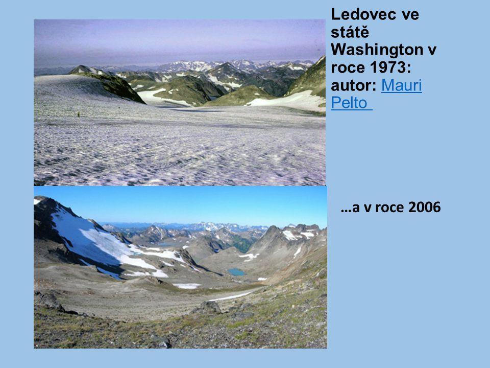 Ledovec ve státě Washington v roce 1973: autor: Mauri Pelto Mauri Pelto …a v roce 2006