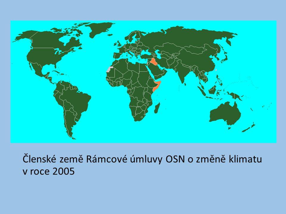 Členské země Rámcové úmluvy OSN o změně klimatu v roce 2005
