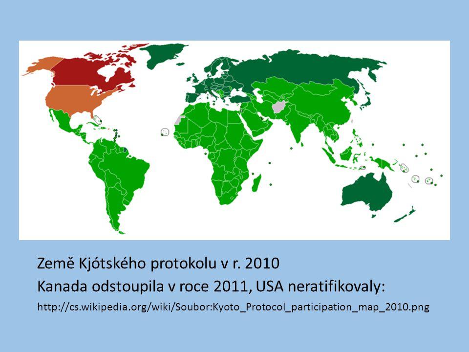 Země Kjótského protokolu v r.