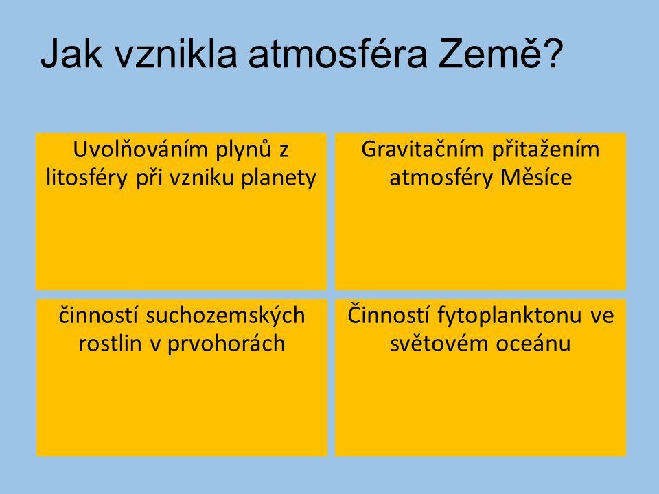 Jak vznikla atmosféra Země.