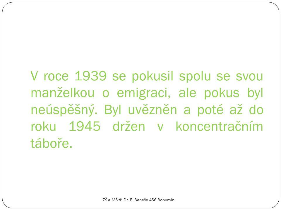 POLITICKÁ DRÁHA ZŠ a MŠ tř. Dr. E. Beneše 456 Bohumín