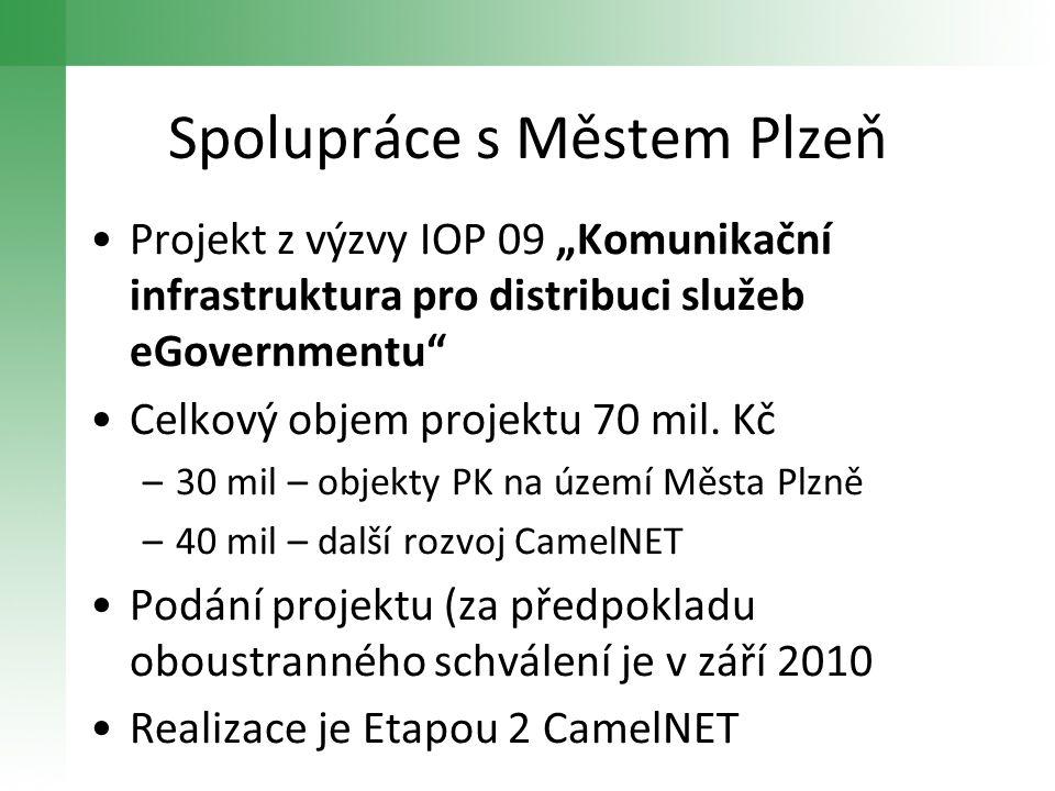 """•Projekt z výzvy IOP 09 """"Komunikační infrastruktura pro distribuci služeb eGovernmentu"""" •Celkový objem projektu 70 mil. Kč –30 mil – objekty PK na úze"""