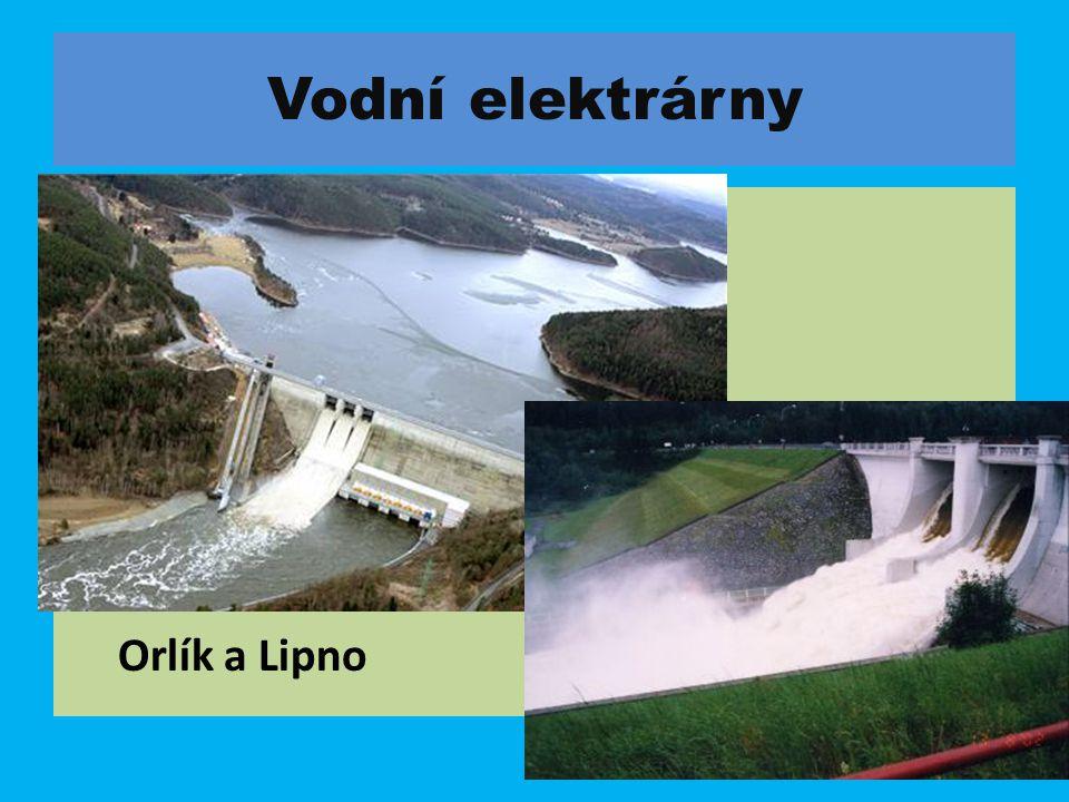 Vodní elektrárny Orlík a Lipno