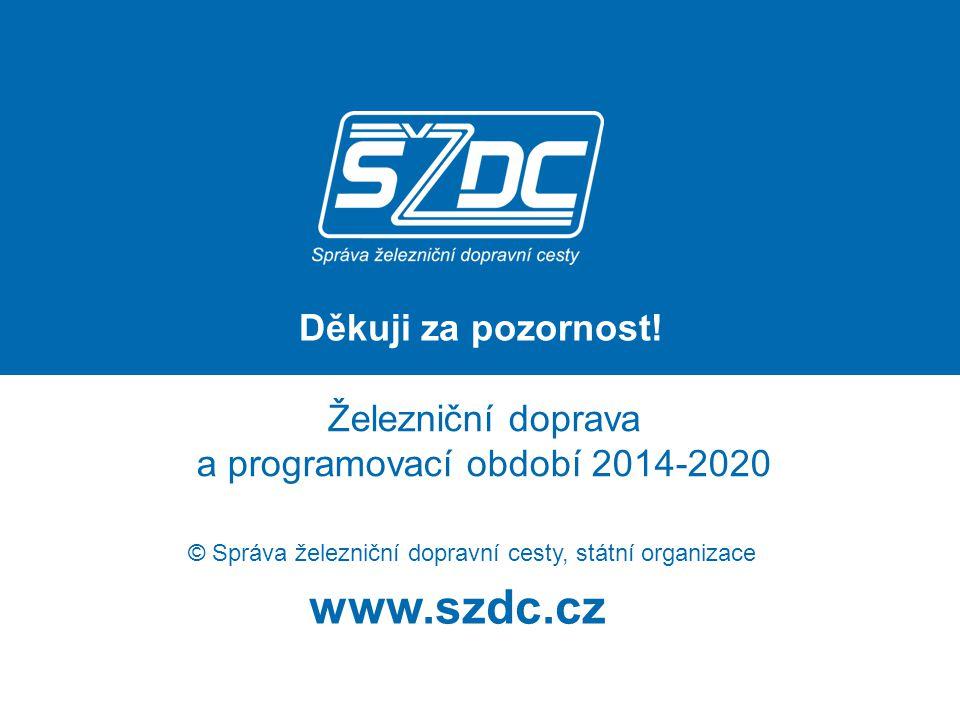 www.szdc.cz © Správa železniční dopravní cesty, státní organizace Železniční doprava a programovací období 2014-2020 Děkuji za pozornost!