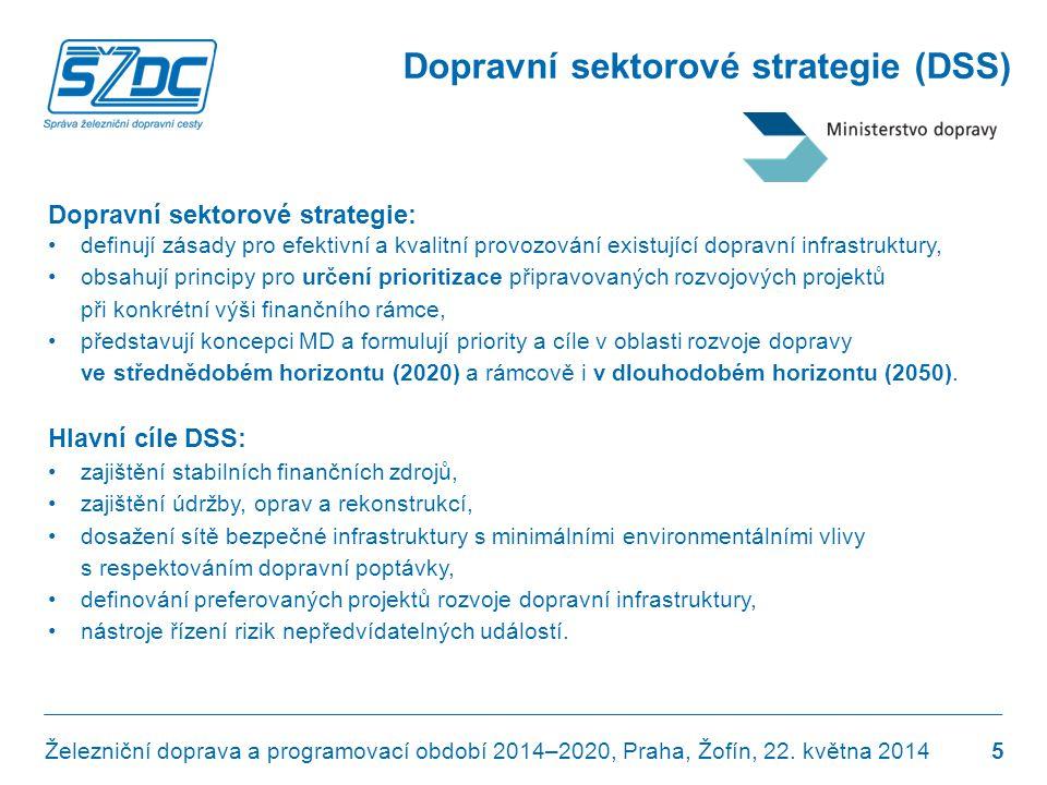 Dopravní sektorové strategie (DSS) Dopravní sektorové strategie: •definují zásady pro efektivní a kvalitní provozování existující dopravní infrastrukt