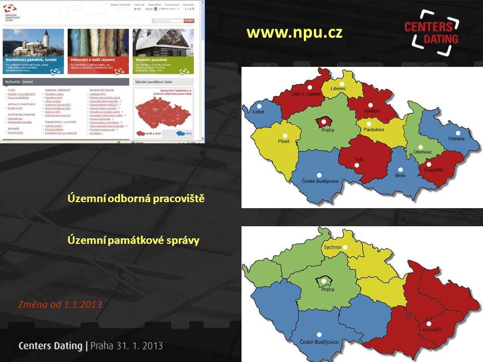 www.npu.cz Územní odborná pracoviště Územní památkové správy Změna od 1.1.2013