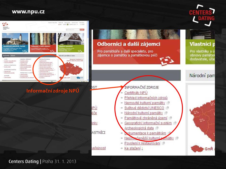 www.npu.cz Informační zdroje NPÚ
