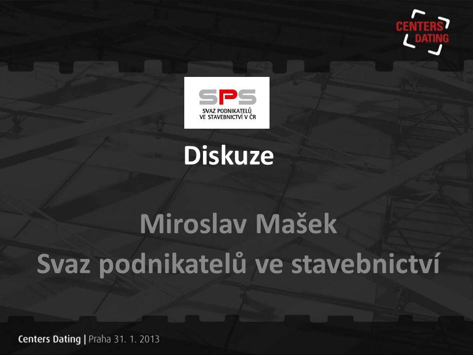 Diskuze Miroslav Mašek Svaz podnikatelů ve stavebnictví