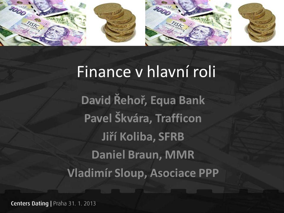 Finance v hlavní roli David Řehoř, Equa Bank Pavel Škvára, Trafficon Jiří Koliba, SFRB Daniel Braun, MMR Vladimír Sloup, Asociace PPP