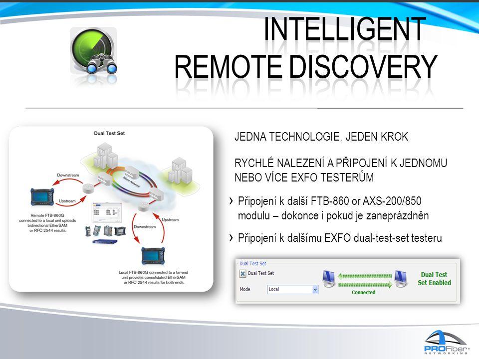› Připojení k další FTB-860 or AXS-200/850 modulu – dokonce i pokud je zaneprázdněn › Připojení k dalšímu EXFO dual-test-set testeru JEDNA TECHNOLOGIE