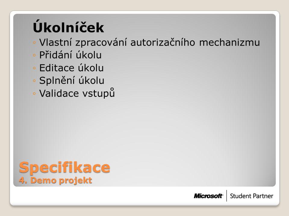 Specifikace 4.