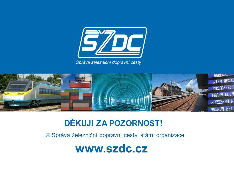www.szdc.cz © Správa železniční dopravní cesty, státní organizace DĚKUJI ZA POZORNOST! DĚKUJI ZA POZORNOST!