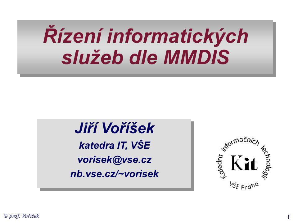 © prof. Voříšek 2 ICT služby v podniku