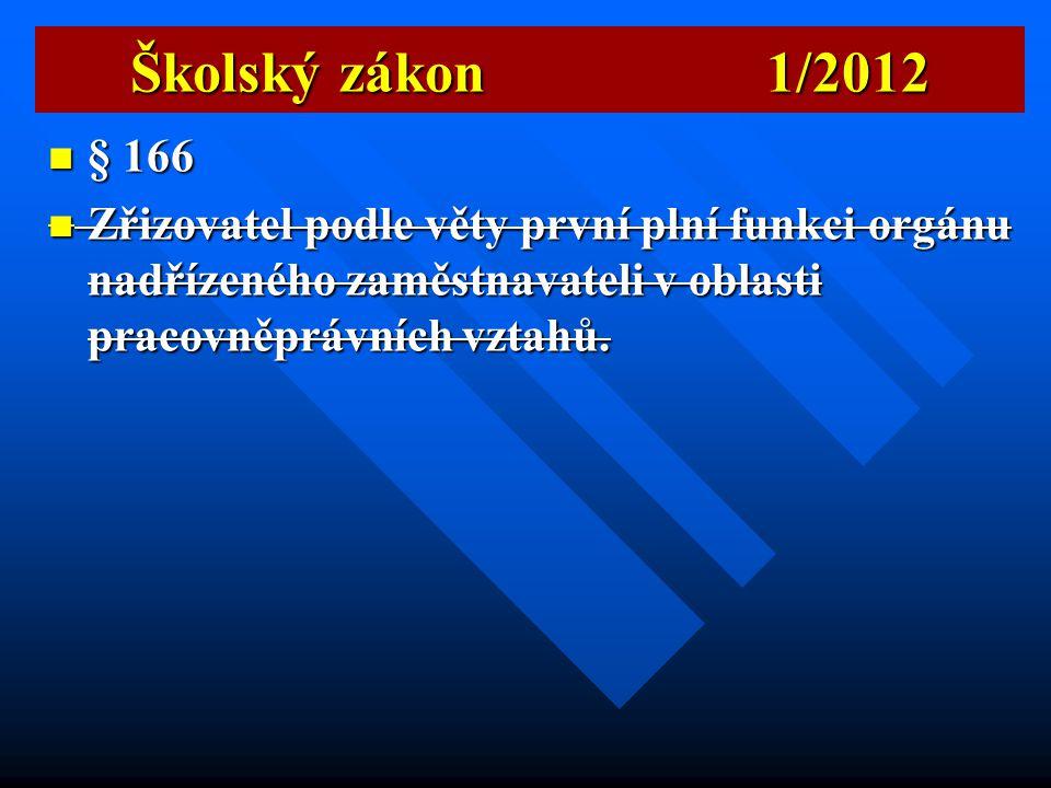 Školský zákon 1/2012  Nepřetržité působení  Počítání doby nepřetržitého výkonu činností ředitele se tudíž nepřerušuje ani překážkami v práci, jako j