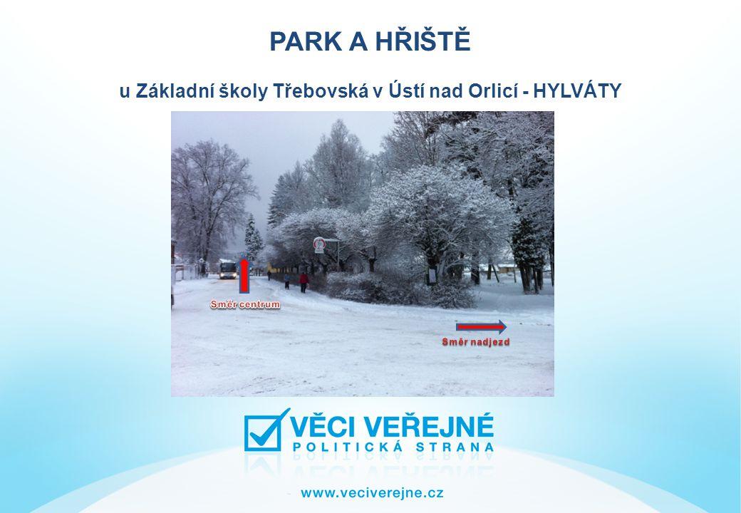 PARK A HŘIŠTĚ u Základní školy Třebovská v Ústí nad Orlicí - HYLVÁTY Ústí nad Orlicí - cca 15000 obyvatel městská část Hylváty - cca 3500 obyvatel tj.