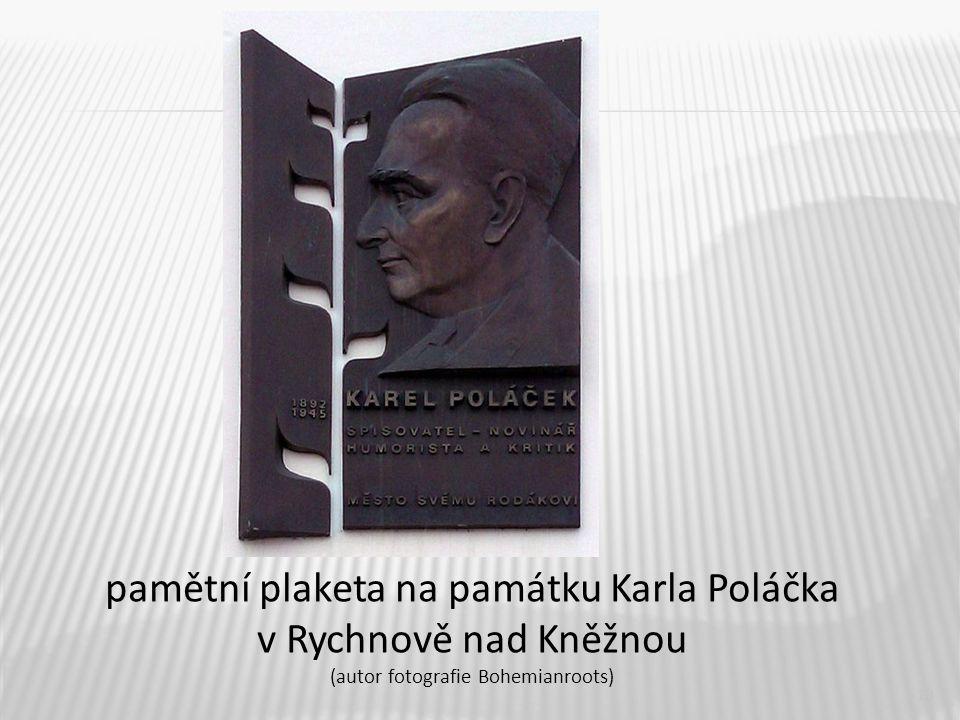 13 pamětní plaketa na památku Karla Poláčka v Rychnově nad Kněžnou (autor fotografie Bohemianroots)