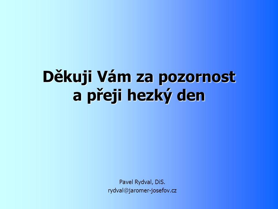 Děkuji Vám za pozornost a přeji hezký den Pavel Rydval, DiS. rydval@jaromer-josefov.cz