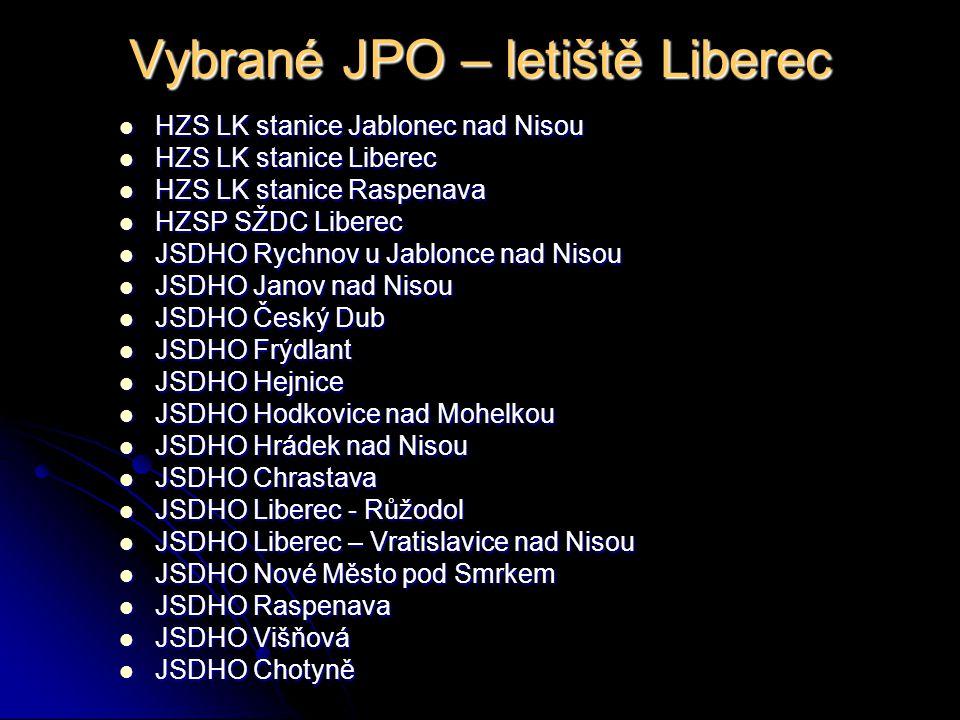 Mapa s vybranými JPO