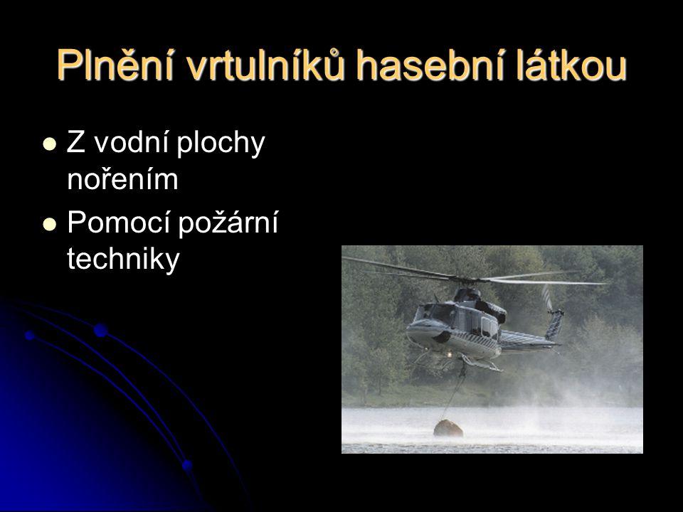 Poznatky z předchozích cvičení  V zásahovém družstvu musí být mohutnějšího vzrůstu minimálně číslo 1 s proudnicí, aby pohodlně dosáhl proudnicí do vaku a ustál tlak vzduchu od vrtulníku.