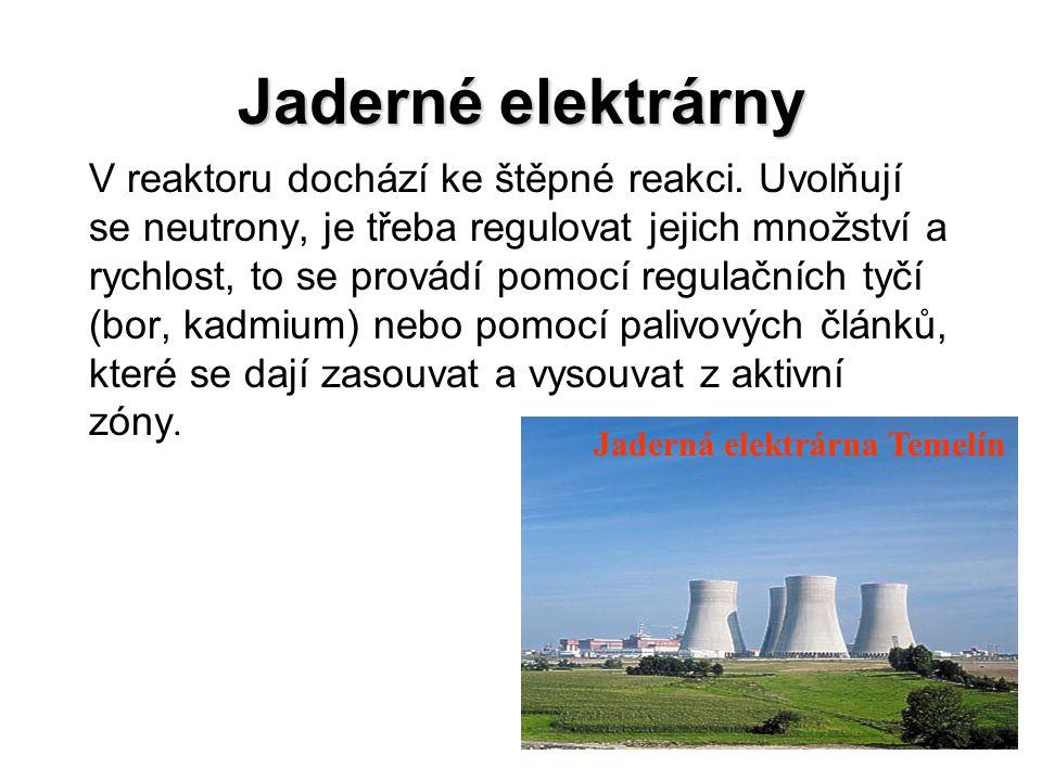 Jaderný reaktor VVER 1000 1.Pohon svazkové řídící tyče 2.
