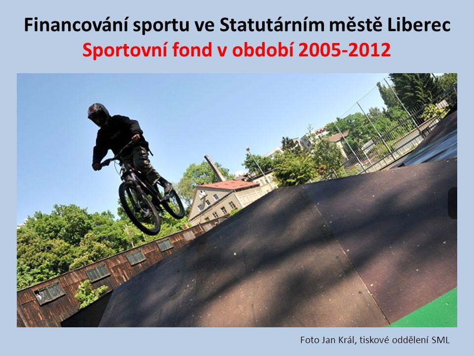 Financování sportu ve Statutárním městě Liberec Sportovní fond v období 2005-2012 Foto Jan Král, tiskové oddělení SML