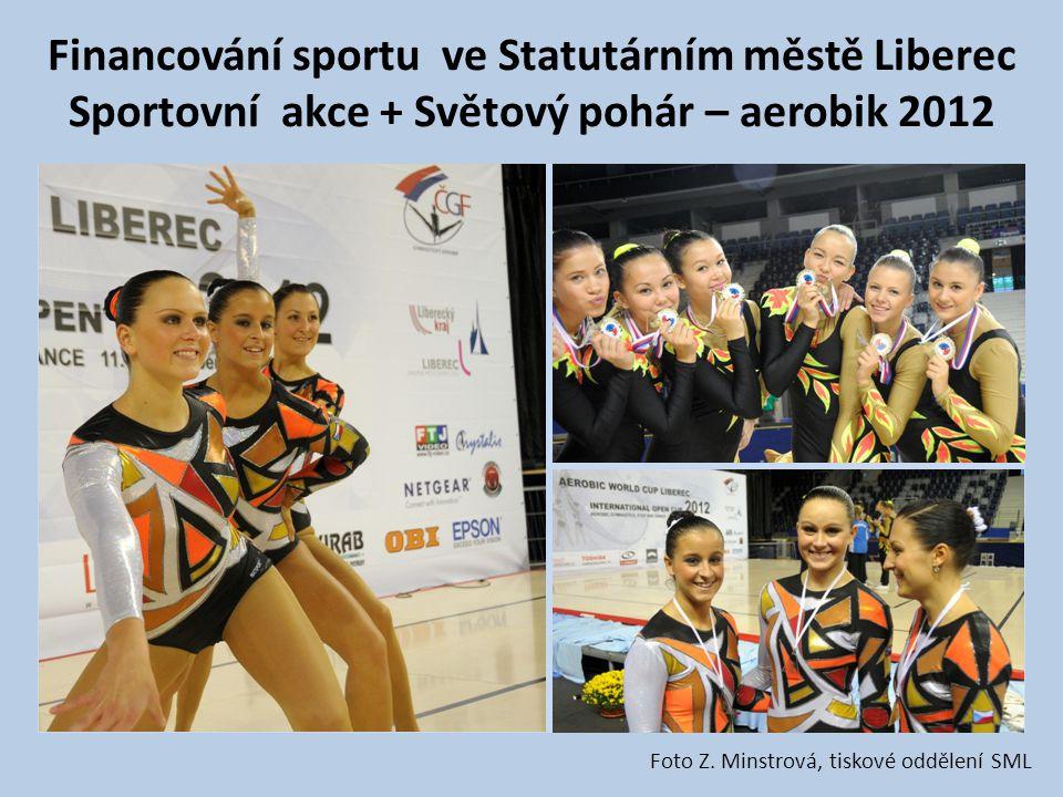 Financování sportu ve Statutárním městě Liberec Sportovní akce + Světový pohár – aerobik 2012 Foto Z. Minstrová, tiskové oddělení SML