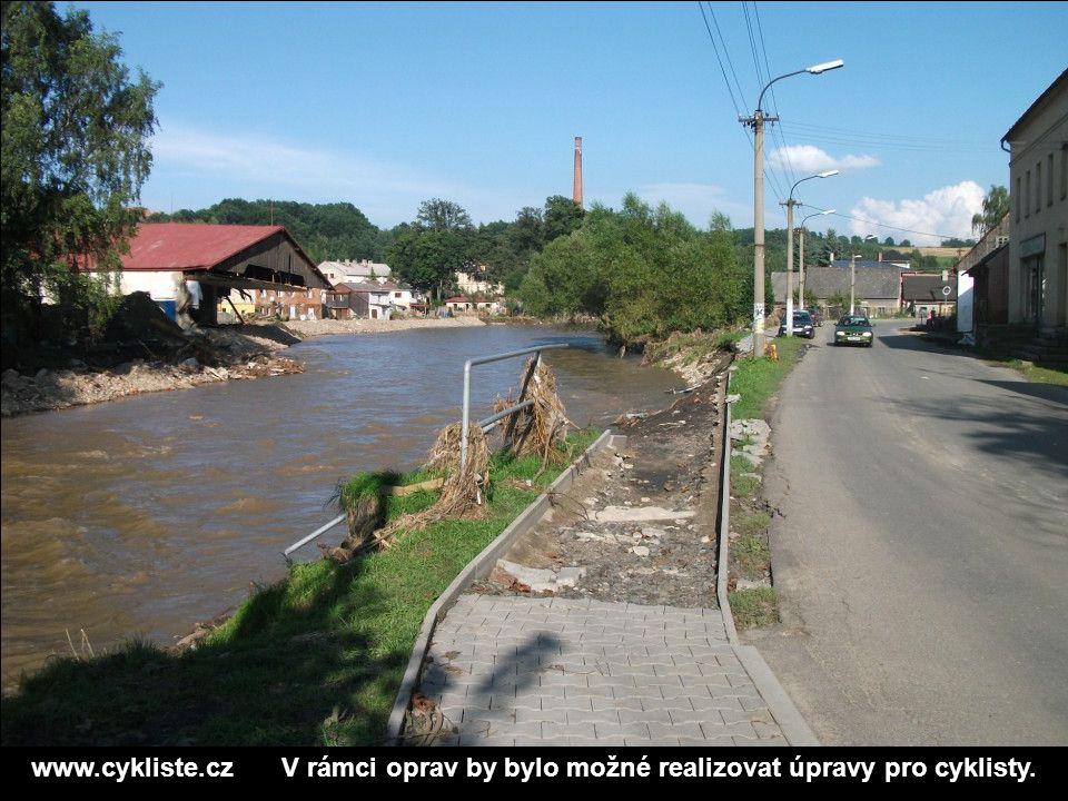 www.cykliste.cz V rámci oprav by bylo možné realizovat úpravy pro cyklisty.