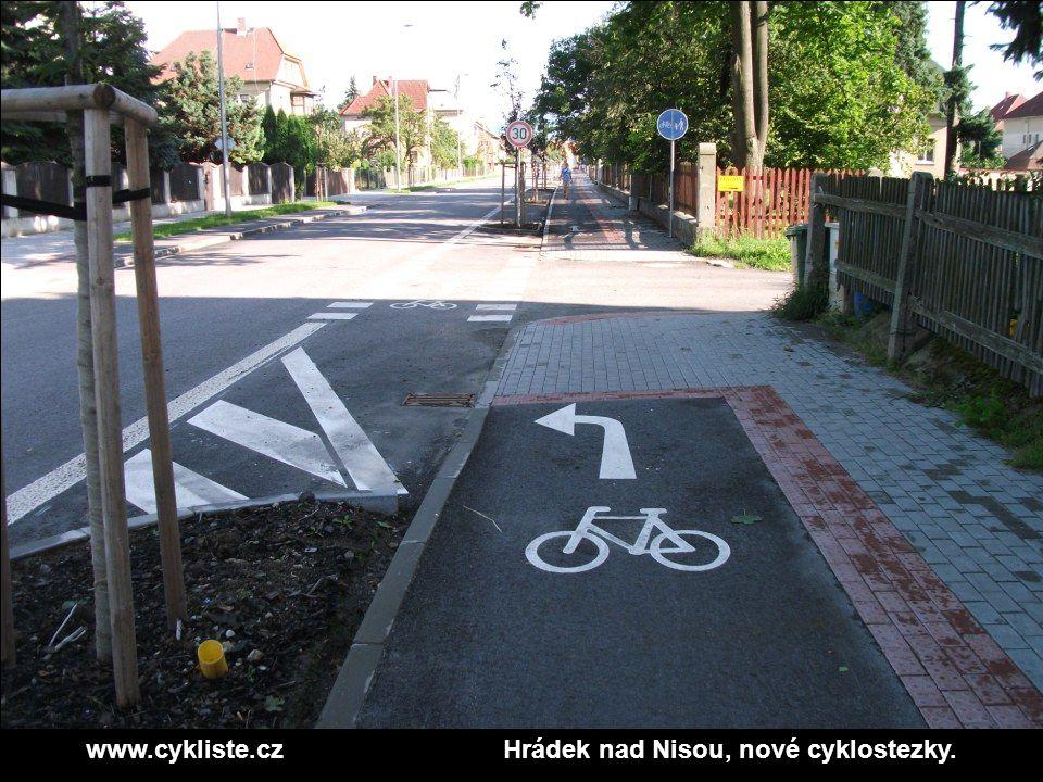 www.cykliste.czHrádek nad Nisou, nové cyklostezky.