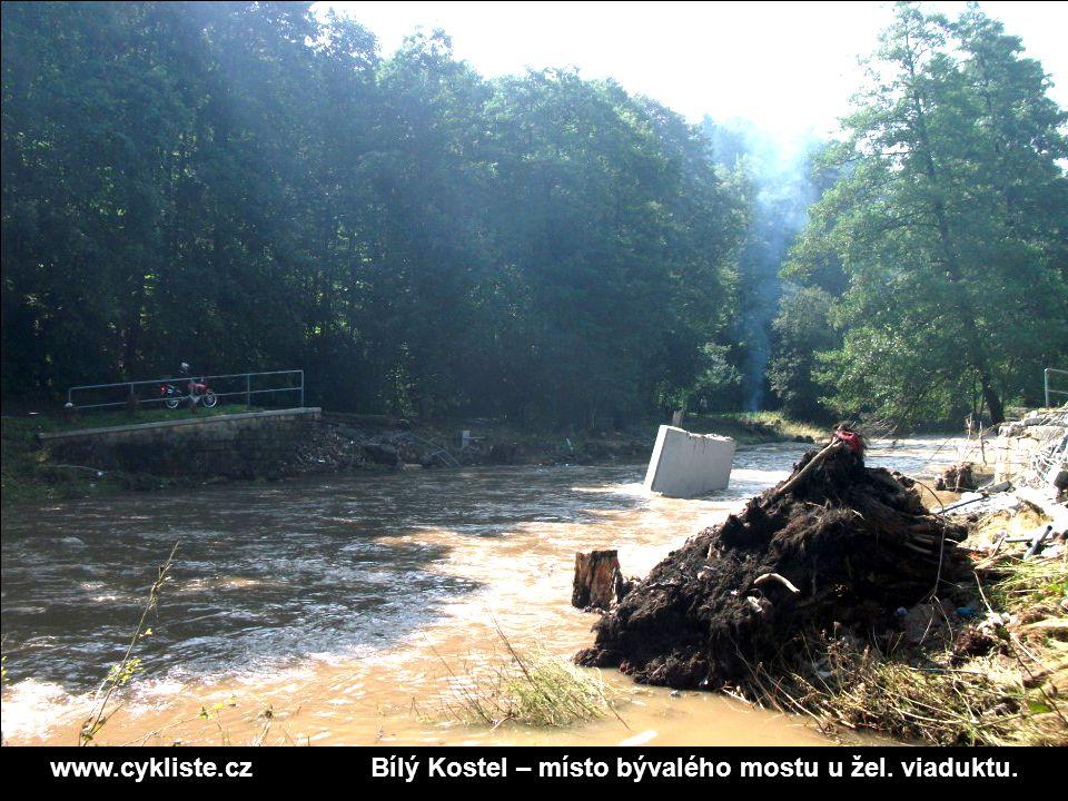 www.cykliste.czBílý Kostel – místo bývalého mostu u žel. viaduktu.