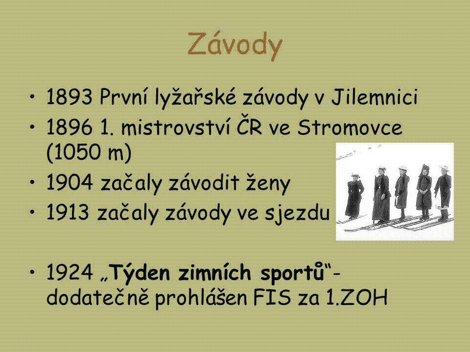 Závody •1893 První lyžařské závody v Jilemnici •1896 1.