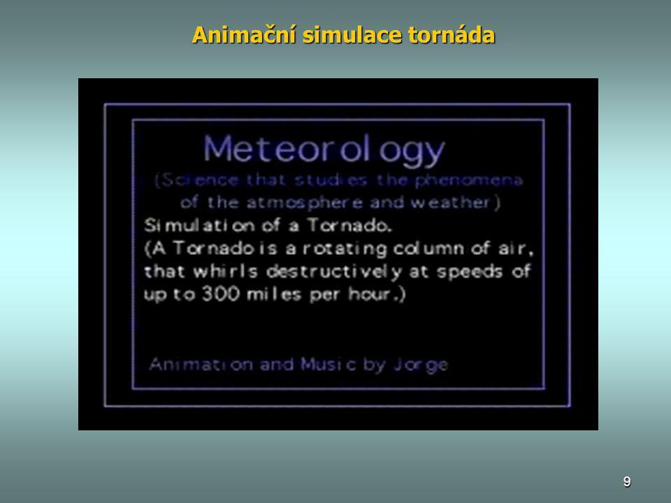 9 Animační simulace tornáda