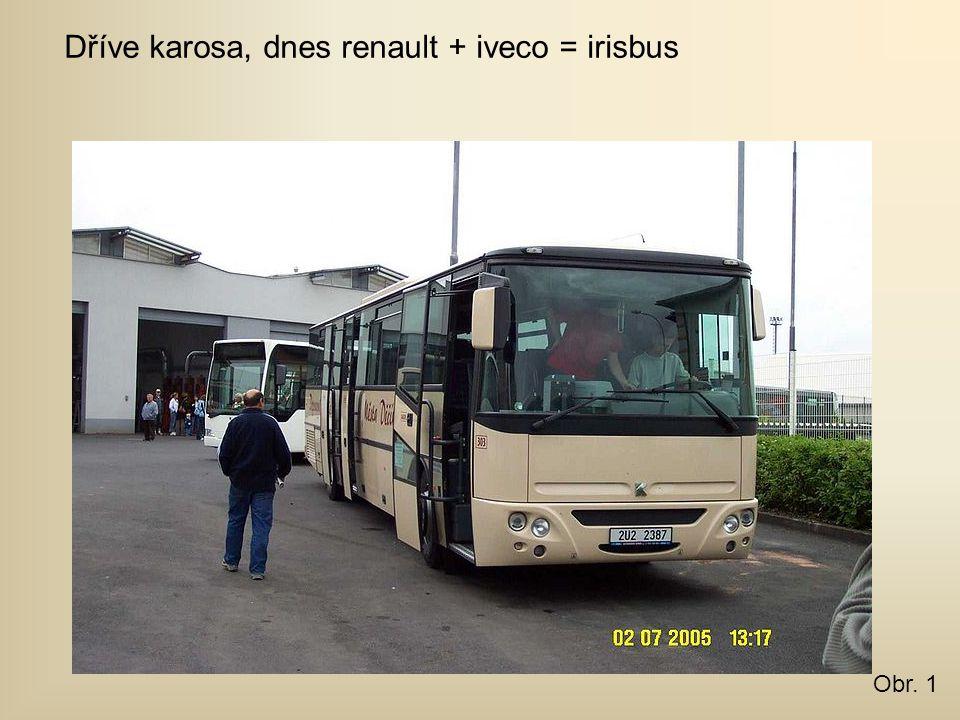 Dříve karosa, dnes renault + iveco = irisbus Obr. 1
