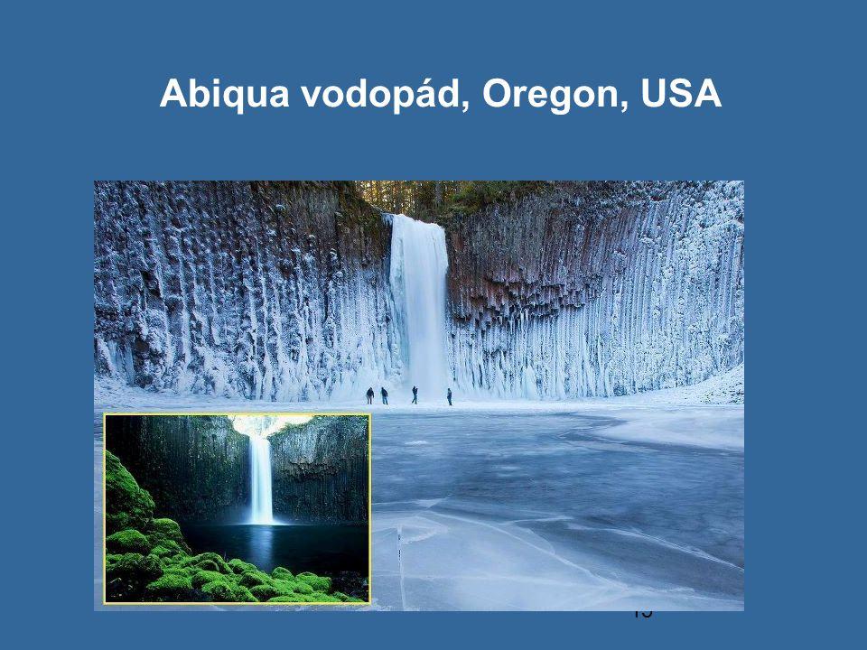15 Abiqua vodopád, Oregon, USA
