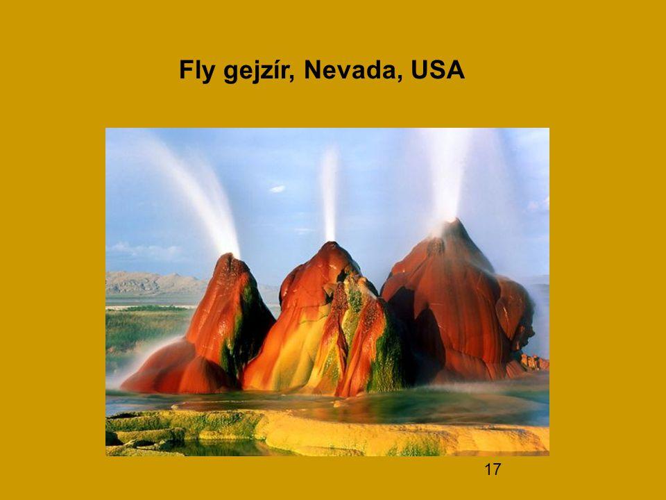 17 Fly gejzír, Nevada, USA