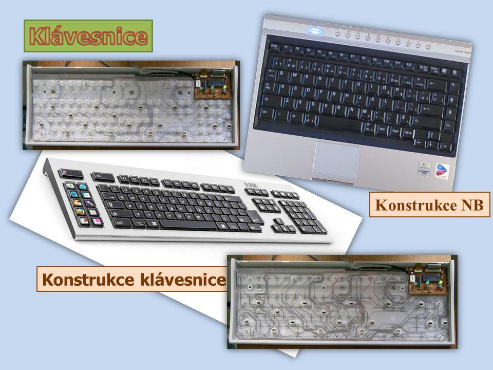 Konstrukce klávesnice Konstrukce NB