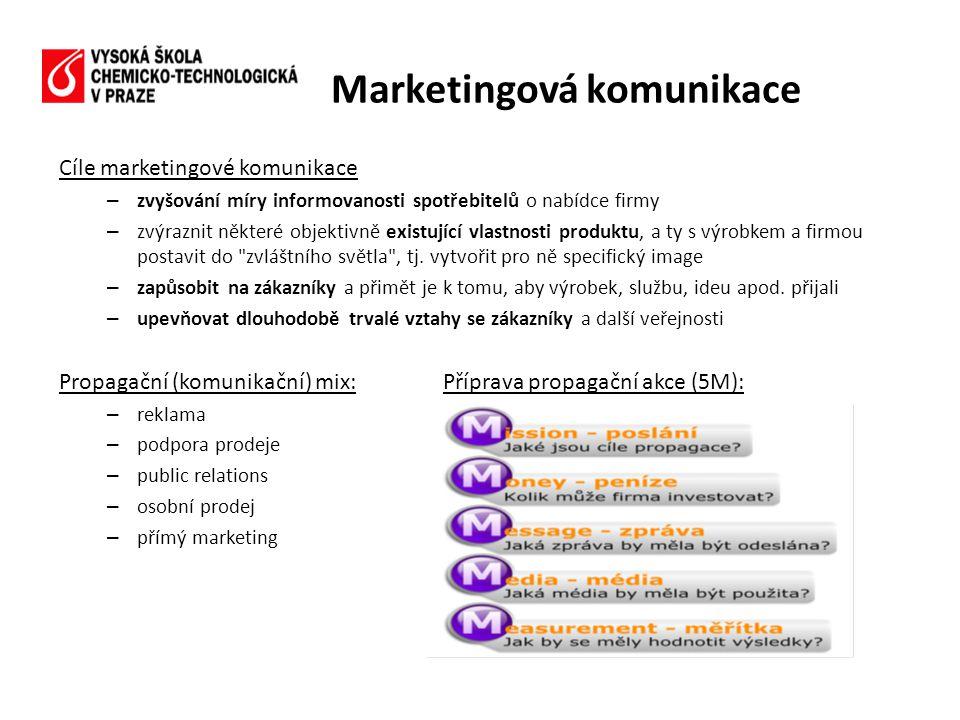 Cíle marketingové komunikace – zvyšování míry informovanosti spotřebitelů o nabídce firmy – zvýraznit některé objektivně existující vlastnosti produkt