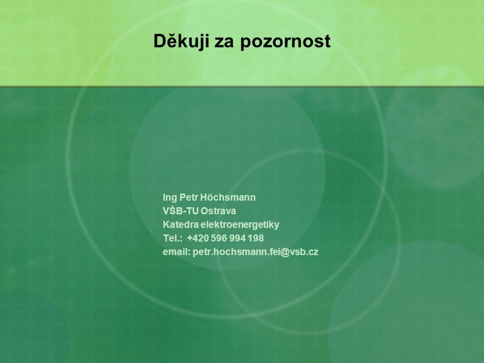 Děkuji za pozornost Ing Petr Höchsmann VŠB-TU Ostrava Katedra elektroenergetiky Tel.: +420 596 994 198 email: petr.hochsmann.fei@vsb.cz
