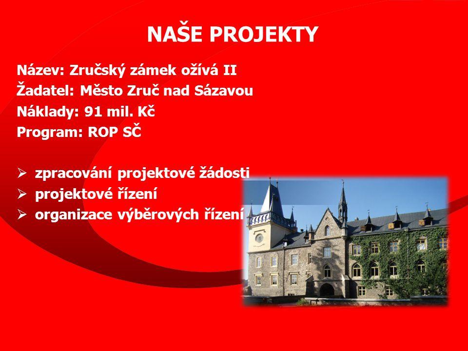 Název: Zručský zámek ožívá II Žadatel: Město Zruč nad Sázavou Náklady: 91 mil.