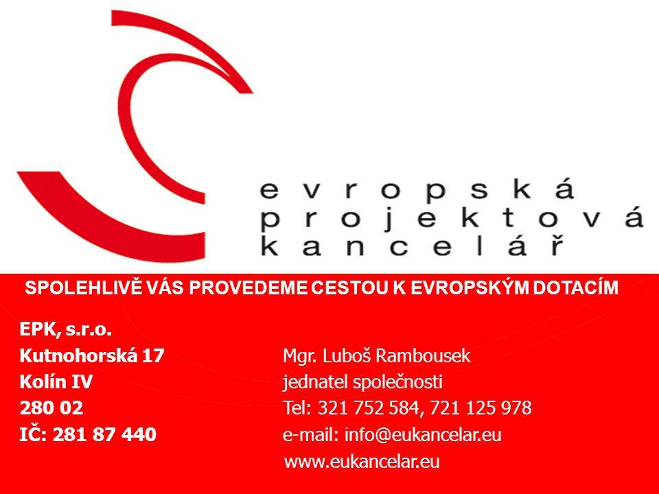 EPK, s.r.o. Kutnohorská 17 Mgr.