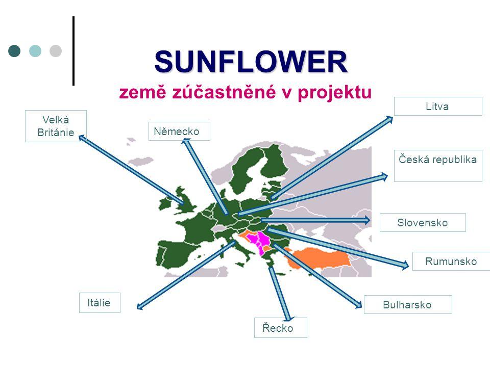 SUNFLOWER Velká Británie Německo Itálie Bulharsko Rumunsko Česká republikaLitva Slovensko země zúčastněné v projektu Řecko